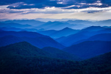 Blue Ridge Mountains With Blue...