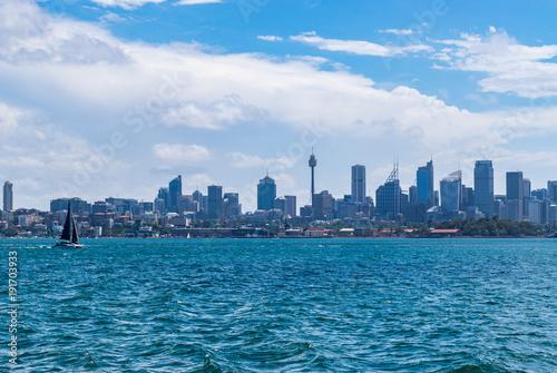 Poster New York Sailboat on the Sydney skyline