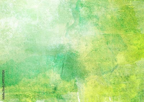背景 水彩 緑 Fototapet