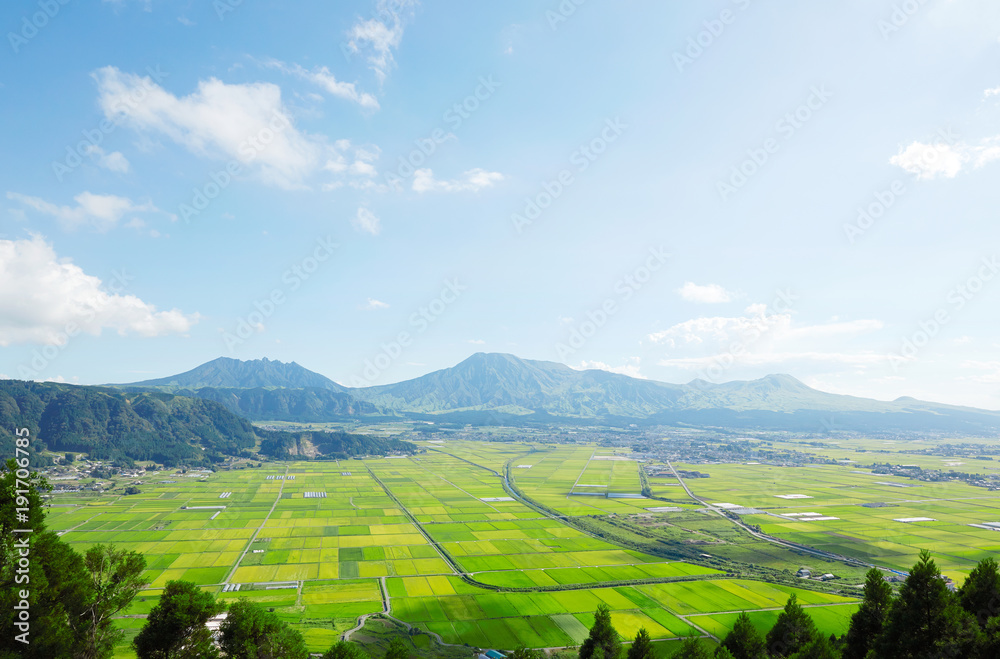 Fototapeta 阿蘇の風景 阿蘇五岳