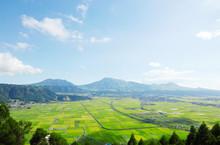 阿蘇の風景 阿蘇五岳