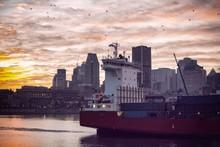 Montreal City Beautiful Sunset