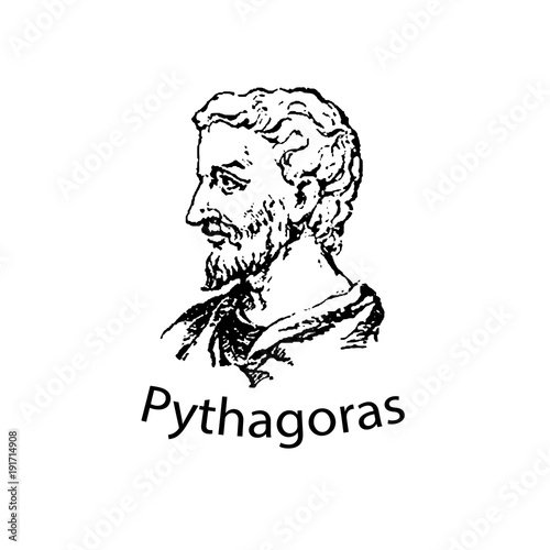 Photo The ancient Greek mathematician and scientist Pythagoras