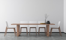 Minimal Style Dining Room 3d R...