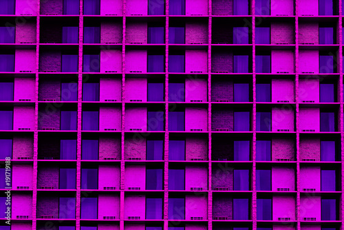 Modern Architecture Of Windows Colored Ultraviolet - 191719188