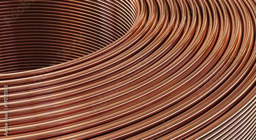 Fotografía  Closeup of copper wires. 3D Illustration