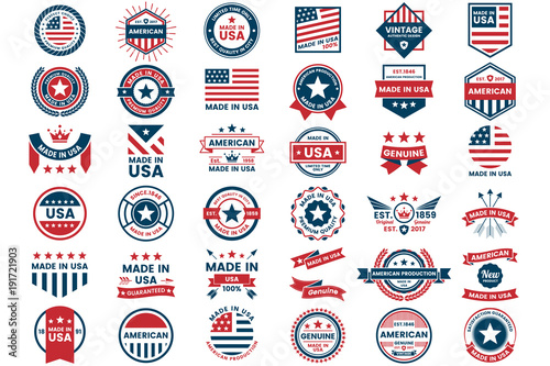 Photographie  America Vector label for banner