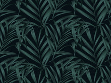 Tropical Plant Seamless Patter...