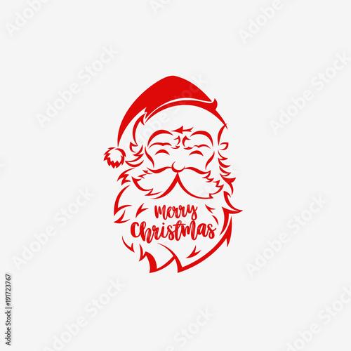 0fbee352ba678 Santa Claus hat and beard logo vector illustration. - Buy this stock ...