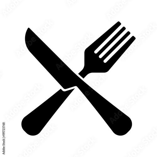 Fotografie, Obraz fork and knife, restaurant sign vector