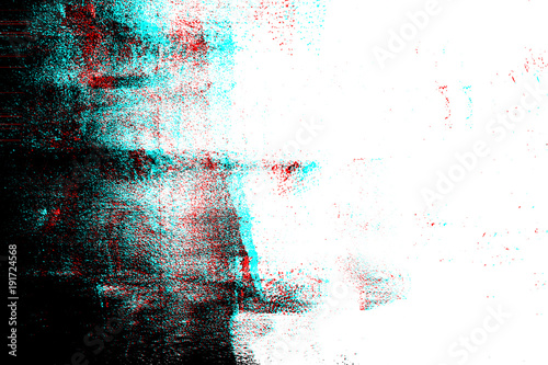 Abstract grunge photocopy texture background, Color double exposure, RGB Glitch - fototapety na wymiar