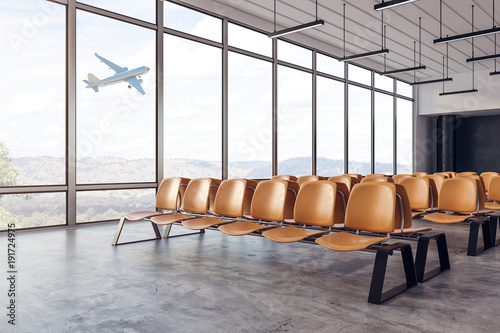 Poster Aeroport New airport interior