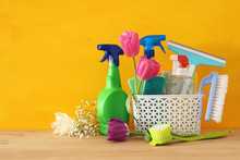 Spring Cleaning Concept With S...