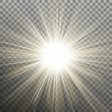 Bright Shining Star. Bursting Explosion. Transparent Background Only In EPS 10