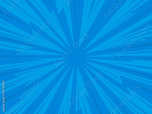 Fotografie, Obraz  Pop art comic background lightning blast halftone dots.