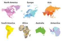 Vector Set Of All Continents P...