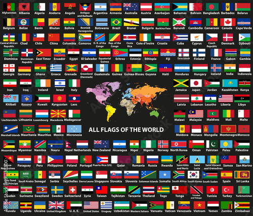 Vector set of all world countriessovereign states flags arranged vector set of all world countriessovereign states flags arranged in alphabetical order gumiabroncs Choice Image