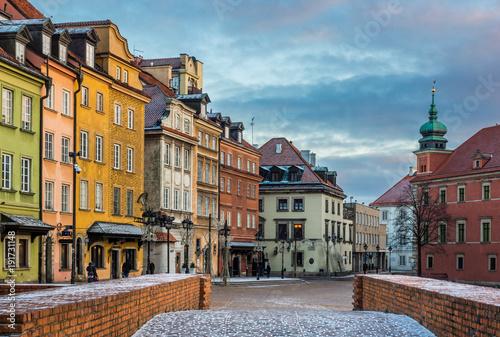Obraz Plac Zamkowy na Starym Mieście w Warszawie - fototapety do salonu
