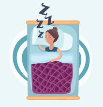 Sleeping Woman Isolated