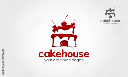 Cake House Logo Template This Sign Is Cute Sign That Consists Of