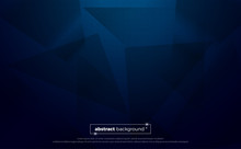 Blue Polygonal Abstract Background. Geometric Illustration With Gradient. Background Texture Design For Poster, Banner, Card And Template. Vector Illustration