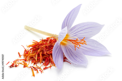 Saffron with crocus flower