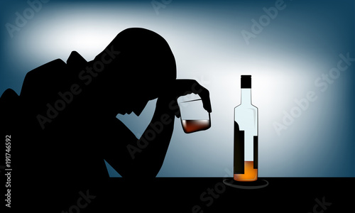 Photo Alcoholism or alcohol use disorder (AUD) is a broad term for any drinking of alcohol that results in mental or physical health problems and affect to daily life
