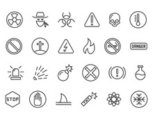 Set Of Warnings Related Vector...