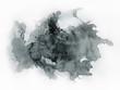 canvas print picture - Art of Watercolor. Black spot on watercolor paper.
