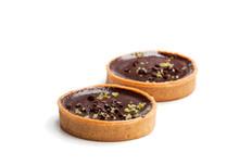 Mini  Chocolate Tarts Isolated...