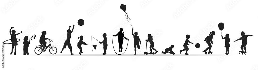Fototapeta Frise-Jeux d'enfants