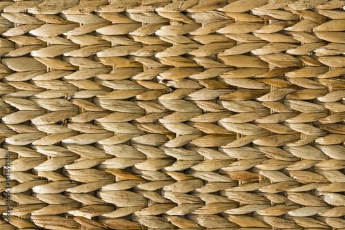 Fotografiet  Woven rafia basket texture full frame background