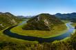 Rijeka Crnojevica river loop at Skhadar lake - close up, Montenegro, Europe