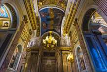 Interior And Arches Of St. Isaac's Cathedral