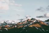 Zmierzch gór szczyty Krajobrazowy lato Podróżuje dzikiej natury scenicznego widok z lotu ptaka. - 191765715
