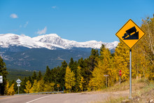 Steep Grade Truck Road Sign On...