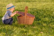 Toddler Child Outdoors. One Ye...