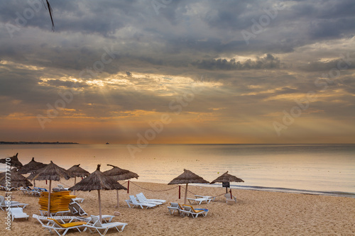 Staande foto Tunesië Тунис. Пляж.