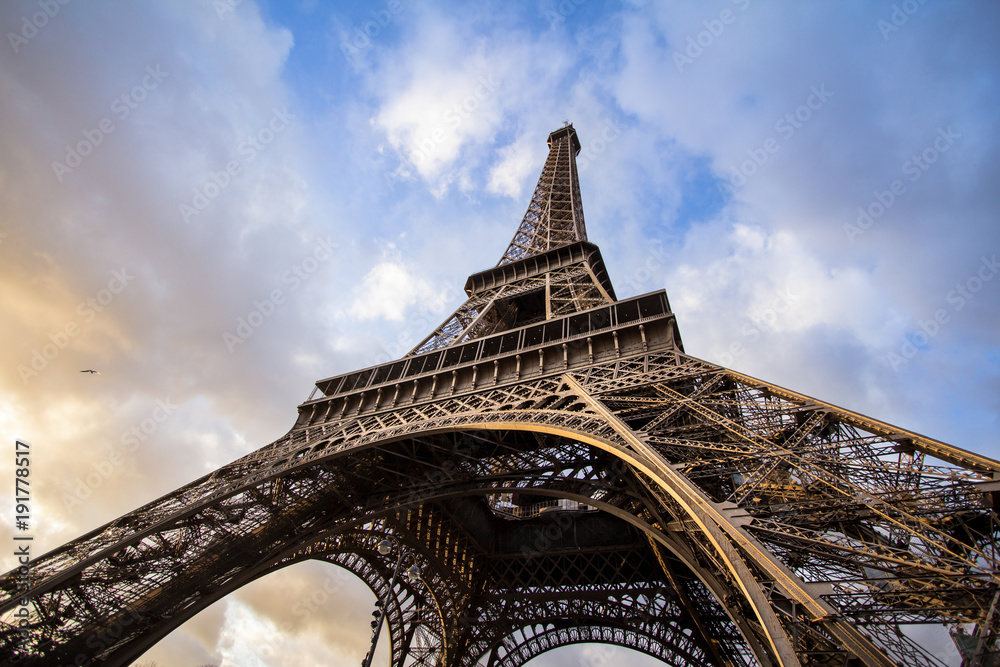 Fototapeta Eiffel Tower, Paris - obraz na płótnie