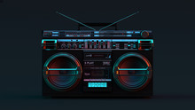 Boombox Moody 80s Lighting 3d ...