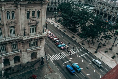 Fotografie, Obraz  beautiful skyline view of Havana, Cuba, in stormy weather