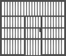 Prison Bars. Vector Illustration