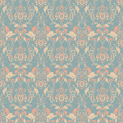 Seamless vintage vector background. Vector floral wallpaper baroque style pat...