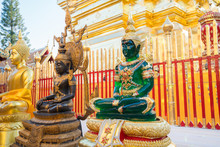 Gold, Black And Jade Buddha St...
