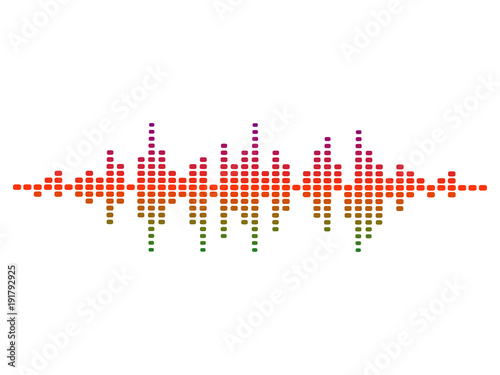 colorful vector design illustration of dynamic sound wave, radio frequency modul Canvas Print
