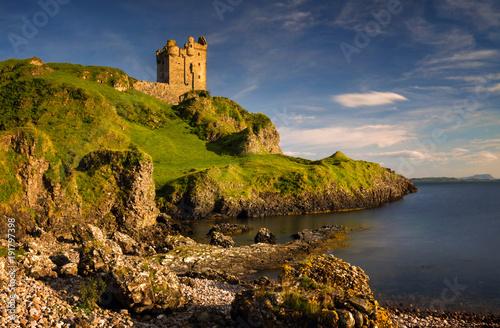 Fotografía Gylen Castle sunset