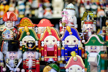 Colorful Nutcrackers At A Trad...