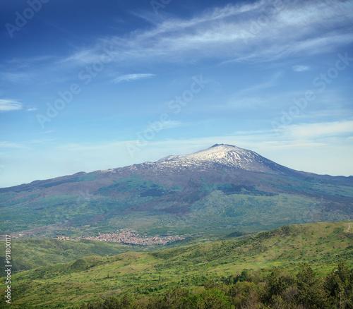 Fényképezés  Cone Volcano Etna Mount, Sicily