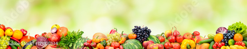 panoramic-collection-fresh-fruits-and-vegetables-on-green-background