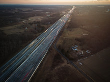 Aerial Of New Jersey Roads Tra...